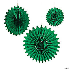 Paper Green Tissue Hanging Fans