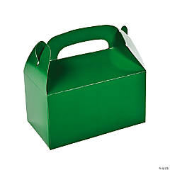 Paper Green Treat Boxes