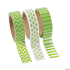 Paper Green Washi Tape Set