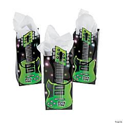 Paper Guitar-Shaped Treat Bags