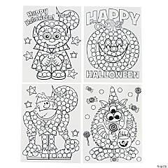 Paper Halloween Dot Activity Sheets
