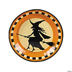 Paper Halloween Silhouette Dinner Plates