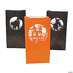 Paper Halloween Silhouette Luminary Bags