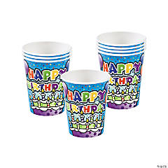Paper Happy Birthday Cake Cups