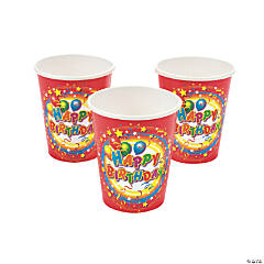 "Paper ""Happy Birthday"" Cups"