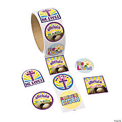 Paper He Lives Easter Stickers