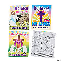 "Paper ""He Lives!"" Easter Story Coloring Books"