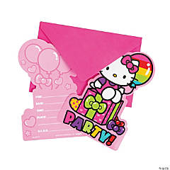 Paper Hello Kitty Rainbow Postcard Invites