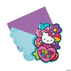 Paper Hello Kitty® Rainbow Postcard Thank Yous