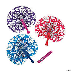 Paper Hibiscus Folding Fans