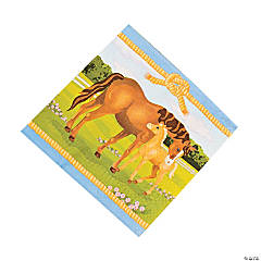 Paper Horse Party Luncheon Napkins