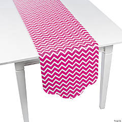 Paper Hot Pink Chevron & Polka Dot Table Runner