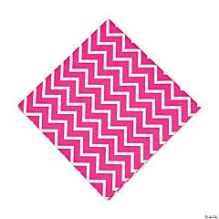 Paper Hot Pink Chevron Luncheon Napkins