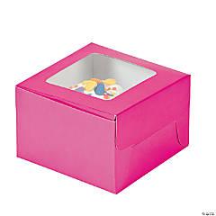 Paper Hot Pink Cupcake Boxes