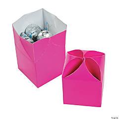 Paper Hot Pink Favor Boxes