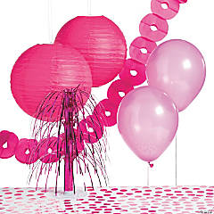 Paper Hot Pink Party Decorating Kit