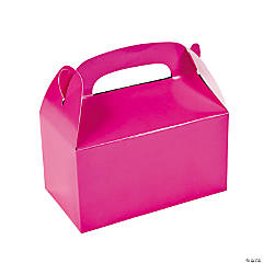 Paper Hot Pink Treat Boxes