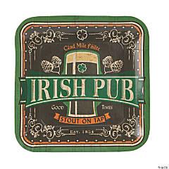 Paper Irish Pub Dinner Plates
