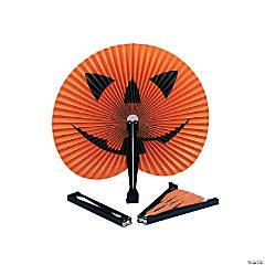 Paper Jack-O'-Lantern Folding Fans