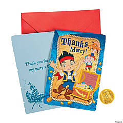 Paper Jake and the Never Land Pirates Thank You Cards