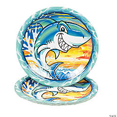 Paper Jawsome Shark Dinner Plates