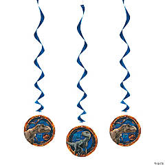Paper Jurassic World™ Hanging Swirl Decorations - 3 Pc.
