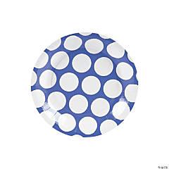 Paper Large Polka Dot Dessert Plates