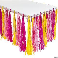 Paper Lemonade Party Fringe Table Skirt