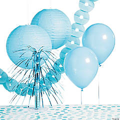 Paper Light Blue Party Decorating Kit