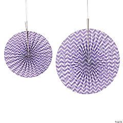 Paper Lilac Chevron Hanging Fans