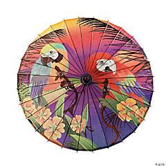 Paper Luau Parrot Parasol
