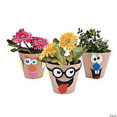 Paper Mache Silly Face Flowerpot Craft Kit