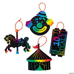 Paper Magic Color Scratch Carnival Ornaments