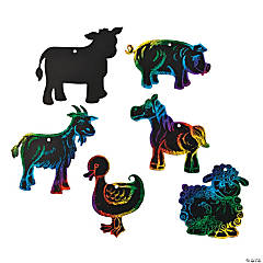 Paper Magic Color Scratch Farm Animal Ornaments
