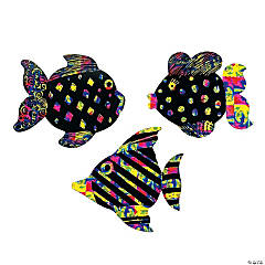 Paper Magic Color Scratch Fish Ornaments