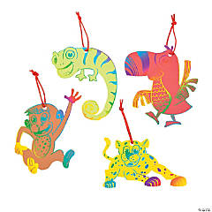 Paper Magic Color Scratch Safari Ornaments