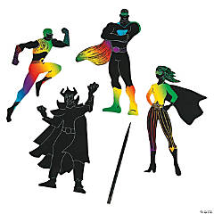 Paper Magic Color Scratch Superheroes