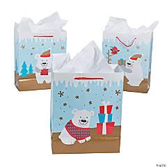 Paper Medium Christmas Polar Bear Gift Bags