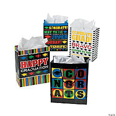 Paper Medium Graduation Gift Bags with Tags