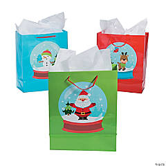 Paper Medium Snow Globe Gift Bags