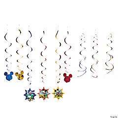 Paper Mickey & Friends Hanging Swirl Decorations - 12 Pc.