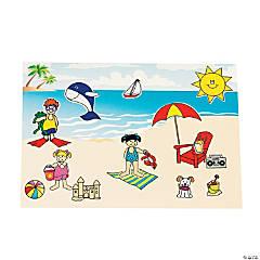 Paper Mini Beach Sticker Scenes