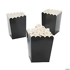 Paper Mini Black Popcorn Boxes