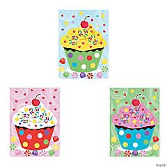 Paper Mini Cupcake Sticker Scenes
