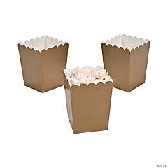 Paper Mini Gold Popcorn Boxes