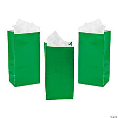 Paper Mini Green Treat Bags