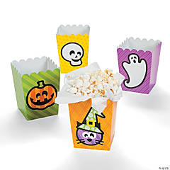 Paper Mini Halloween Popcorn Boxes