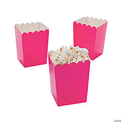 Paper Mini Hot Pink Valentine Popcorn Boxes