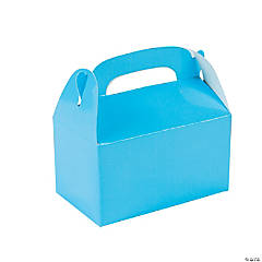 Paper Mini Light Blue Treat Boxes
