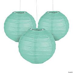 """Paper Mini Mint Green Lanterns - 4 1/2"""""""